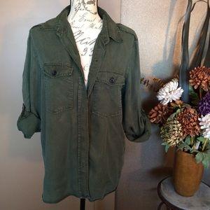Zara Premium Collection Olive Green Shirt
